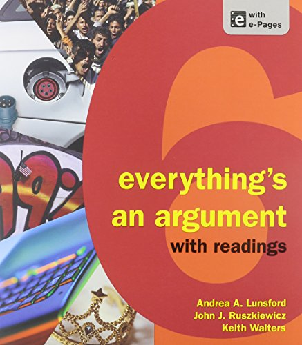 9781457667992: Everything's an Argument with Readings 6e & Pocket Style Manual 6e & ReWriting: Plus (Access Card)