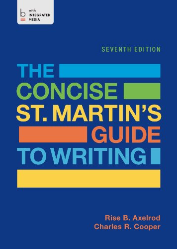 9781457669552: The Concise St. Martin's Guide to Writing
