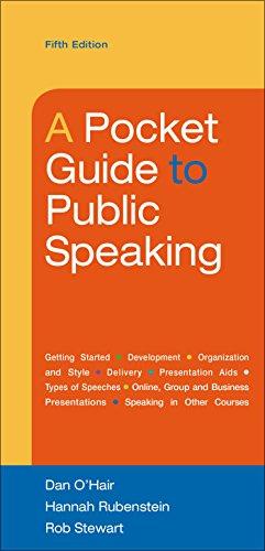 A Pocket Guide to Public Speaking: O'Hair, Dan; Rubenstein,