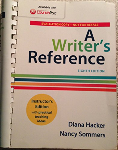 9781457686252: A WRITER'S REFERENCE 8TH. INSTRUCTOR'S ED. WITH PRACTICAL TEACHING IDEAS