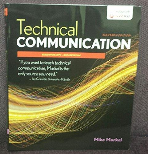 technical communication 12th edition by mike markel and stuart selber pdf