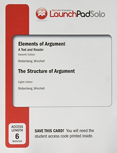 9781457691300: LaunchPad Solo for Elements of Argument and The Structure of Argument 8e (Six Month Access)