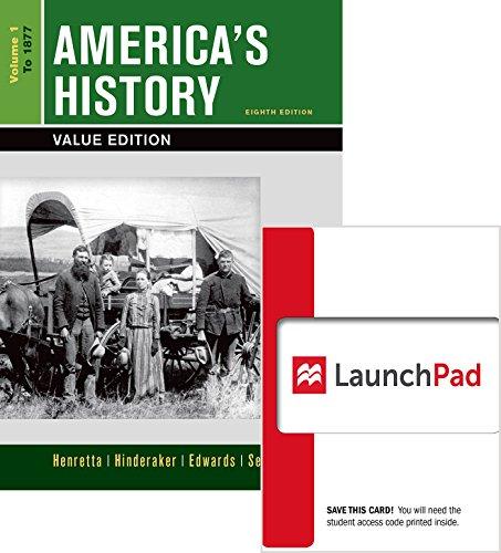 9781457693571: America's History 8e V1 & Launchpad for America's History 8e V1 (Access Card)