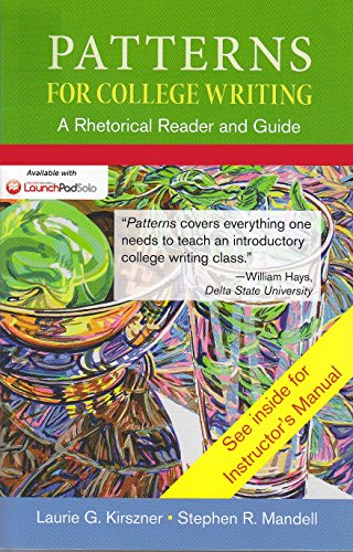 patterns for college writing a rhetorical reader and guide ninth edition