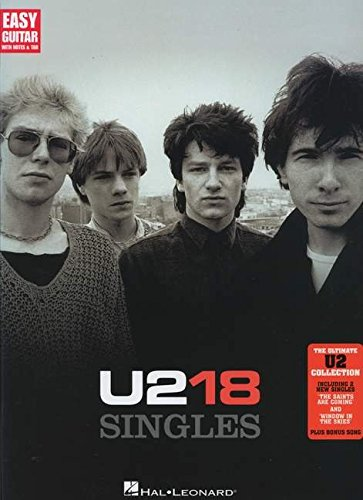 9781458407764: U2 18 Singles - Easy Guitar with Tab (Easy Guitar with Notes & Tab)