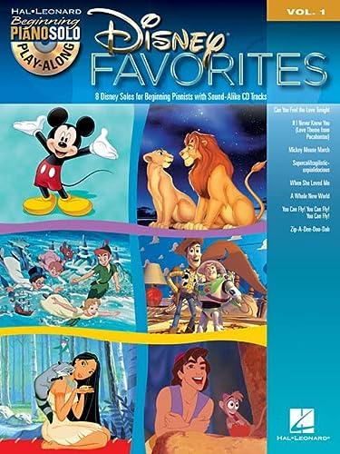 9781458408242: Disney Favorites: Beginning Piano Solo Play-Along Volume 1 (Play Along Book & CD)