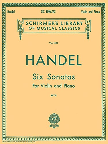 9781458410429: SIX (6) SONATAS VIOLIN PIANO (Schirmer's Library of Musical Classics)