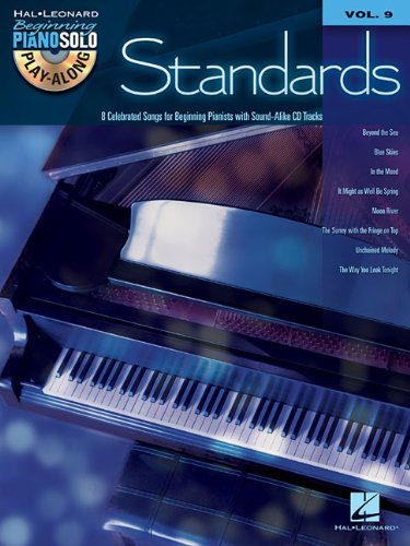 9781458410979: Standards - Beginning Piano Solo Play-Along (BK/CD) Volume 9