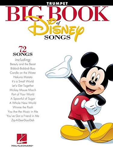 9781458411358: The Big Book of Disney Songs: Trumpet