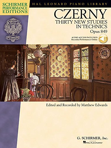 9781458411600: Czerny-thirty New Studies in Technics, Op. 849: Piano Book