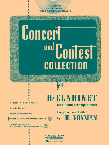 9781458412119: Rubank Concert And Contest For Clarinet - Accompaniment CD
