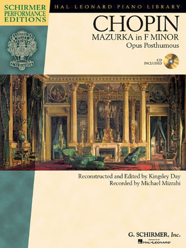 9781458414397: Frederic Chopin - Mazurka in F minor, Op. post.: with a CD of performance Schirmer Performance Editions (Hal Leonard Piano Library)