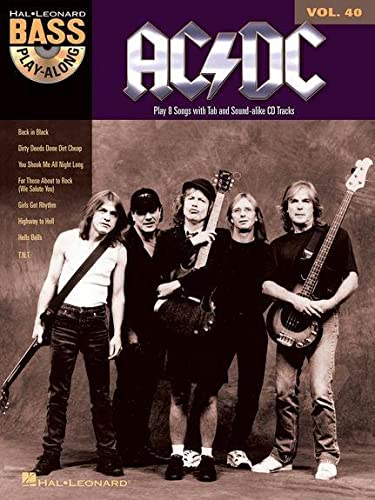 9781458414946: AC/DC - Bass Play-Along Volume 40 (Book/Online Audio) (Hal Leonard Bass Play-Along)
