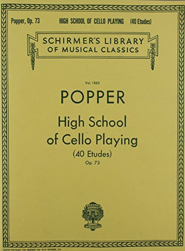 9781458418562: David Popper: High School of Cello Playing Opus. 73