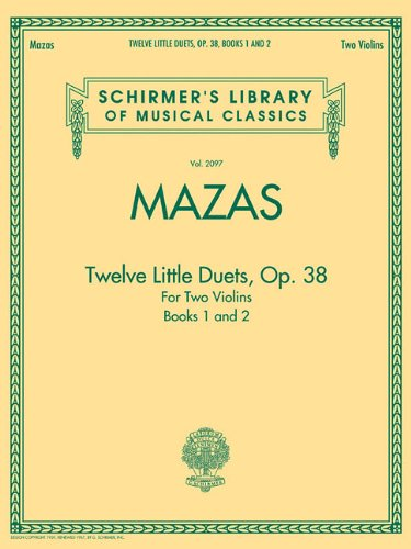 9781458421081: TWELVE LITTLE DUETS FOR TWO VIOLINS OP. 38 BOOKS 1 & 2 (Schirmer's Library of Musical Classics)