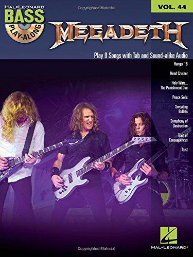 9781458423627: Bass Play-Along Vol.44 Megadeath + Cd