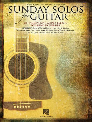 9781458424648: Sunday Solos For Guitar (Fingerpicking) Standard Notation & Tab