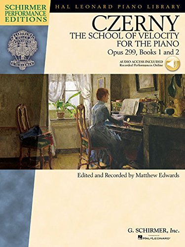 9781458424655: Carl Czerny - The School of Velocity for the Piano, Opus 299, Books 1 and 2: Includes access to online audio of full performances (Schirmer Performance Editions)