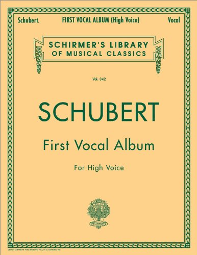 9781458424747: First Vocal Album for High Voice (Schirmer's Library of Musical Classics Vol. 342) (English and German Edition)