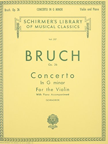 9781458426437: CONCERTO IN G MINOR FOR THE VIOLIN AND PIANO OP26