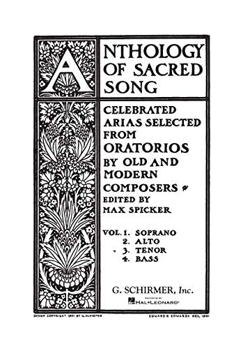 9781458427489: ANTHOLOGY OF SACRED SONG VOL3 TENOR
