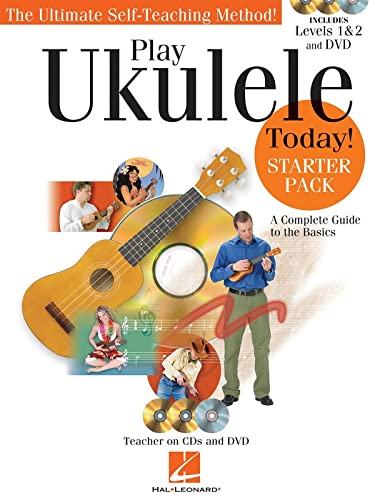 9781458436795: Play Ukulele Today! - Starter Pack: Includes Levels 1 & 2 Book/CDs and a DVD