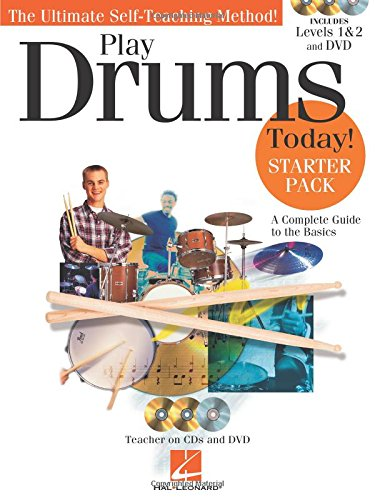 9781458436801: Play Drums Today! - Starter Pack: Includes Levels 1 & 2 Book/CDs and a DVD