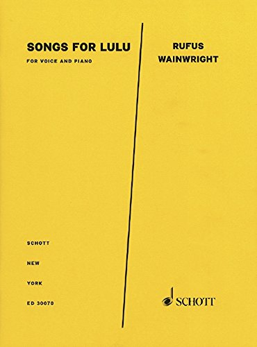 9781458437983: SONGS FOR LULU - VOICE AND PIANO