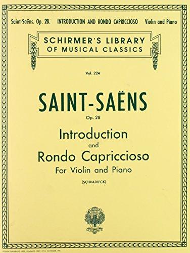 9781458494436: INTRODUCTION AND RONDO CAPRICCIOSO OP28 VIOLIN & PIANO