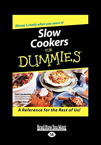 9781458717269: Slow Cookers for Dummies: Easyread Large Edition