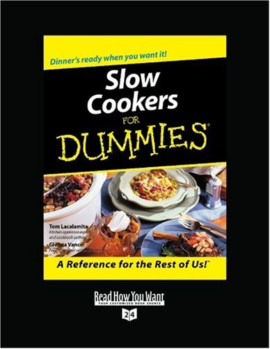 9781458717290: Slow Cookers for Dummies: Easyread Super Large 24pt Edition:        : 1