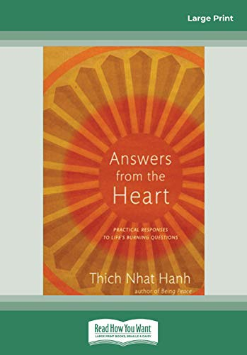 9781458720443: Answers from the Heart: Practical Responses to Life's Burning Questions (Easyread Large Edition)