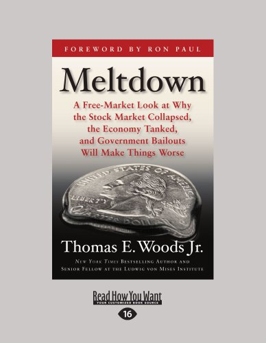 9781458721051: Meltdown: A Free-Market Look at Why the Stock Market Collapsed, the Economy Tanked, and Government Bailouts Will Make Things Worse