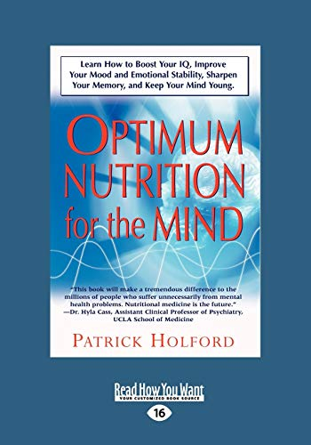 9781458763440: New Optimum Nutrition for the Mind (Large Print 16pt), Volume 2