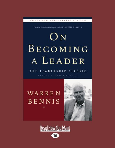 9781458765604: On Becoming a Leader: Easyread Large Edition