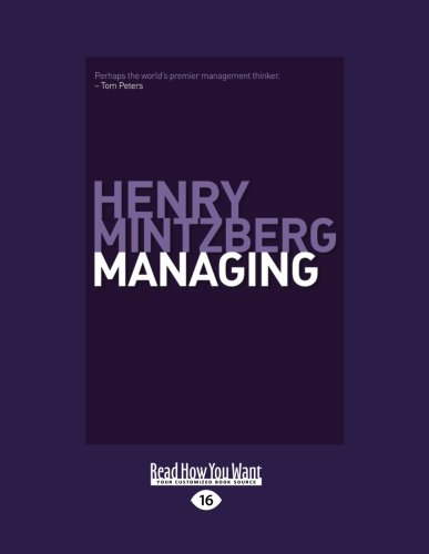 9781458777669: Managing (Large Print 16pt)