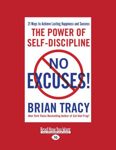 9781458784254: No Excuses!: The Power of Self-Disciplilne