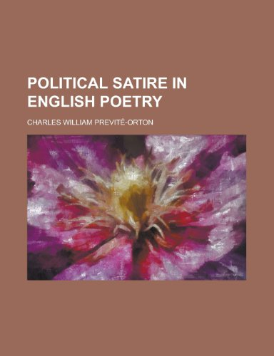 9781458894489: Political Satire in English Poetry