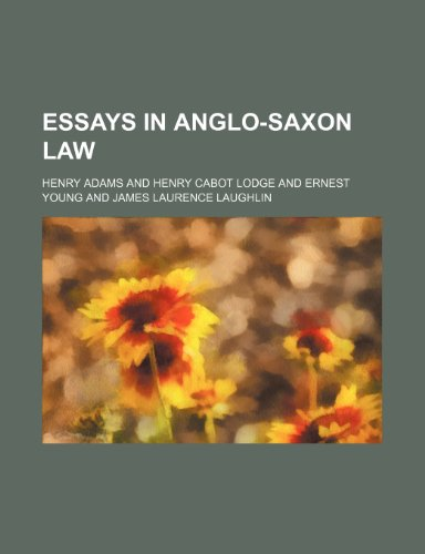 9781459046979: Essays in Anglo-Saxon Law