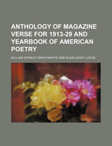 9781459078352: Anthology of Magazine Verse for 1913-29 and Yearbook of American Poetry