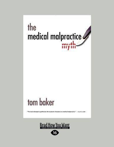 9781459615656: The Medical Malpractice Myth