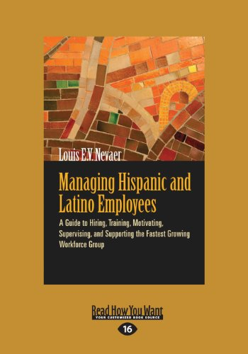 9781459626263: Managing Hispanic and Latino Employees: A Guide to Hiring, Training, Motivating, Supervising, and Supporting the Fastest Growing Workforce Group