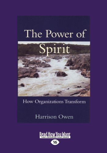 9781459626737: The Power of Spirit: How Organizations Transform