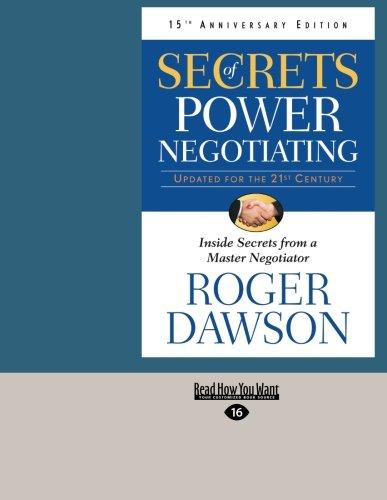 9781459639867: Secrets of Power Negotiating, 15th Anniversary Edition: Inside Secrets From a Master Negotiator
