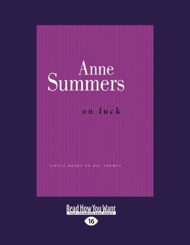 On Luck (1459649923) by Anne Summers