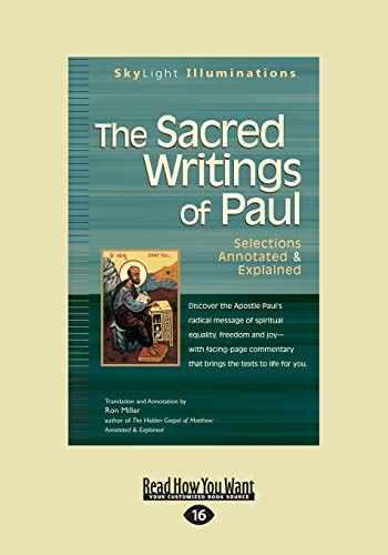 9781459679047: The Sacred Writings of Paul: Selections Annotated& Explained