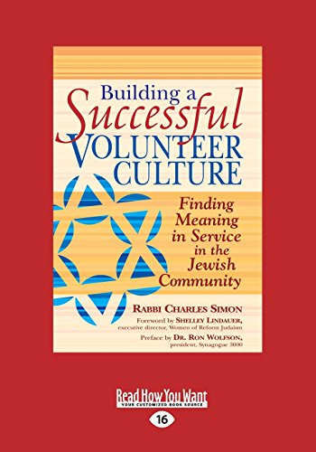 9781459683266: Building A Successful Volunteer Culture: Finding Meaning in Service in the Jewish Community