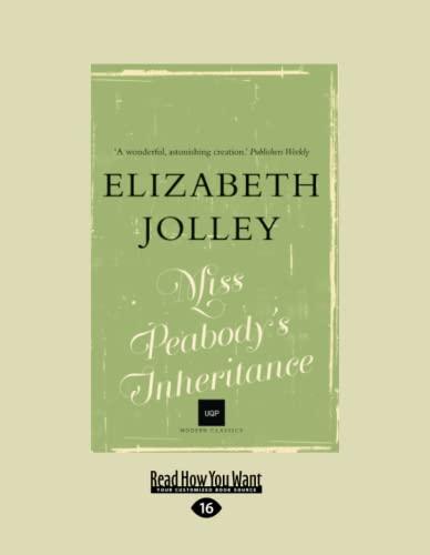 9781459696822: Miss Peabody's Inheritance (Large Print 16pt)