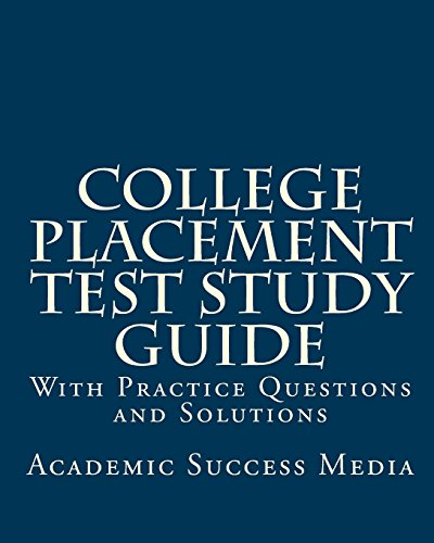 9781461002529: college placement test study guide: with practice