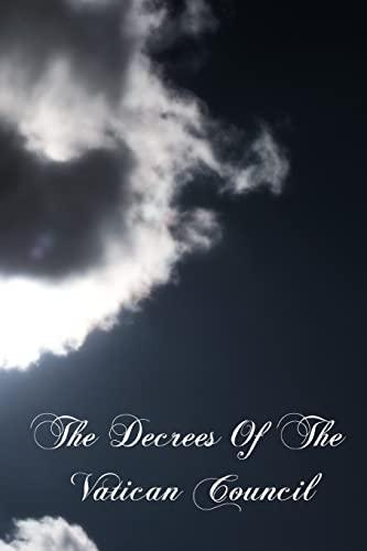 9781461133452: The Decrees Of The Vatican Council